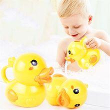 Cute Duck Watering Can Bath Toy Wash Hair For Baby Kid Beach Pool Shower 77HD