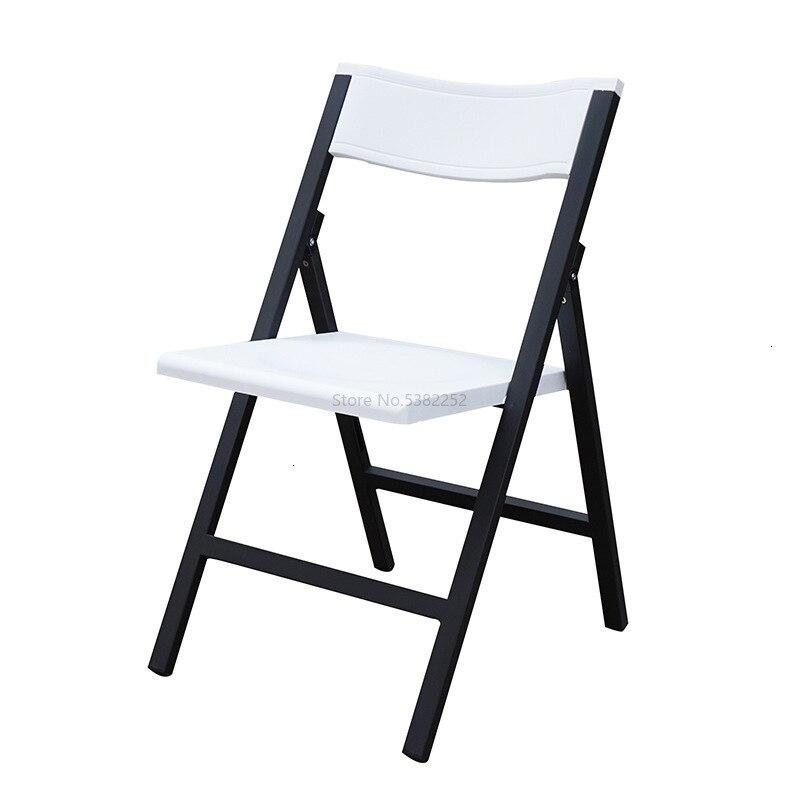 Chaise épaississement surpercutant cadre en acier de haute qualité Pp augmenter Fine tout nouveau matériau rien main courante plier chaise de Train