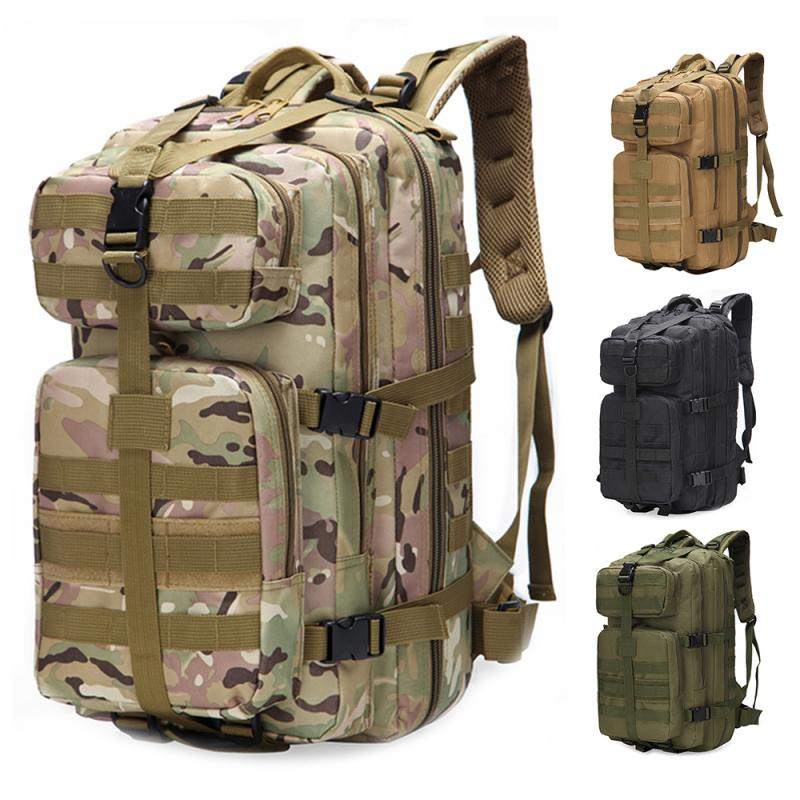 <font><b>35L</b></font> Large Capacity Unisex Outdoor Military Army Tactical <font><b>Backpack</b></font> Trekking Sport Travel Rucksacks Camping Hiking Fishing Bags ED image