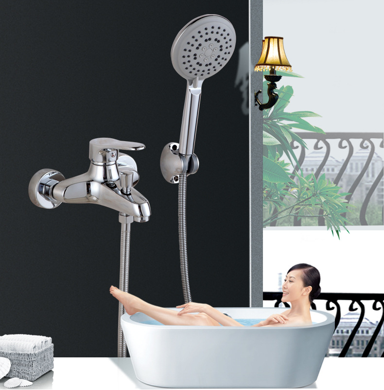 King Sanitary Ware Copper Fly Shower Bathtub Faucet Concealed Triple Shower Switch Cold Hot Water Mixing Valve