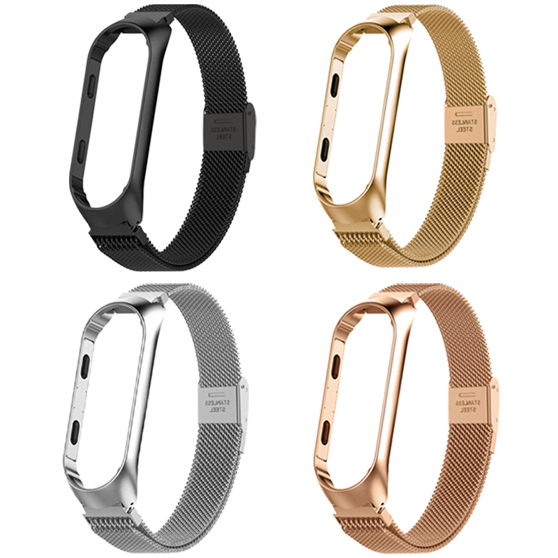 Strap For <font><b>Xiaomi</b></font> <font><b>Mi</b></font> <font><b>Band</b></font> 3 <font><b>4</b></font> Wrist Metal Bracelet Screwless Stainless Steel for <font><b>Xiaomi</b></font> <font><b>Correa</b></font> <font><b>Mi</b></font> <font><b>Band</b></font> 3 Strap Wristband Pulseira image