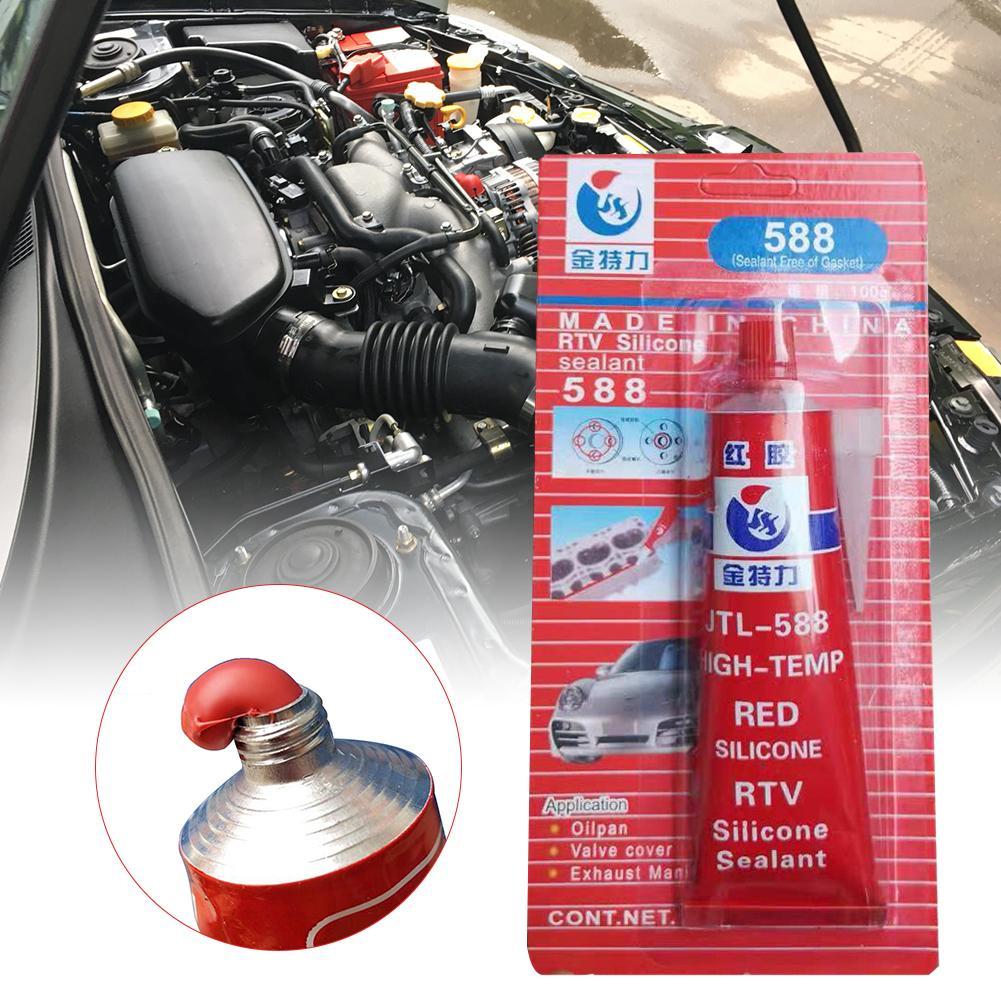 100g Super Strong Adhesive Glue High Temperature Sealant RTV Red Fastening Glue For Car Vehicle Motor Gap Seal Repair Tools