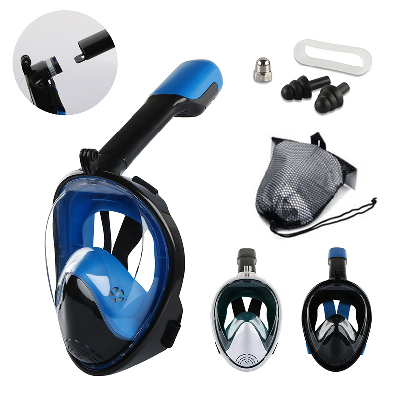Diving Mask Full Face Underwater Snorkeling Mask Snorkeling Equipment Snorkeling Is Used For Buccal Swimming Snorkeling Mask