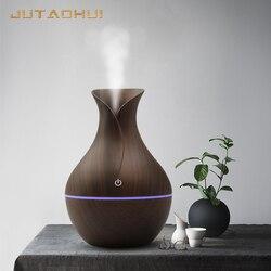 2019 nowy 034 usb 130ml nawilżacz powietrza ziarna drewna Aroma rozproszone dekoracja biurka olejek Mist Maker LED Light dla domu w Nawilżacze powietrza od AGD na