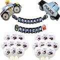 1 Набор мультяшный автомобиль, полицейский воздушный шар, Детская любимая вечерние НКА для мальчиков, декоративные игрушки, полицейские воз...
