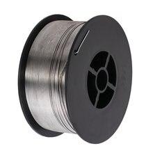 Bobine de fil à souder Mig sans gaz, en acier inoxydable, 0.8mm, 1kg, bobine de Flux fourré, fil de soudage pour accessoires de soudage