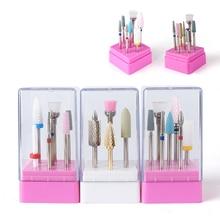 7 шт. керамические алмазные сверла для ногтей набор фрезы для ногтей инструменты для педикюра маникюрный набор керамический вольфрамовый набор сверл для ногтей
