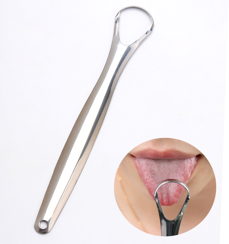 New Stainless Steel Hygiene Care Cleaning Brush Keep Fresh Breath Maker Tongue Cleaner Scraper Oral Brush