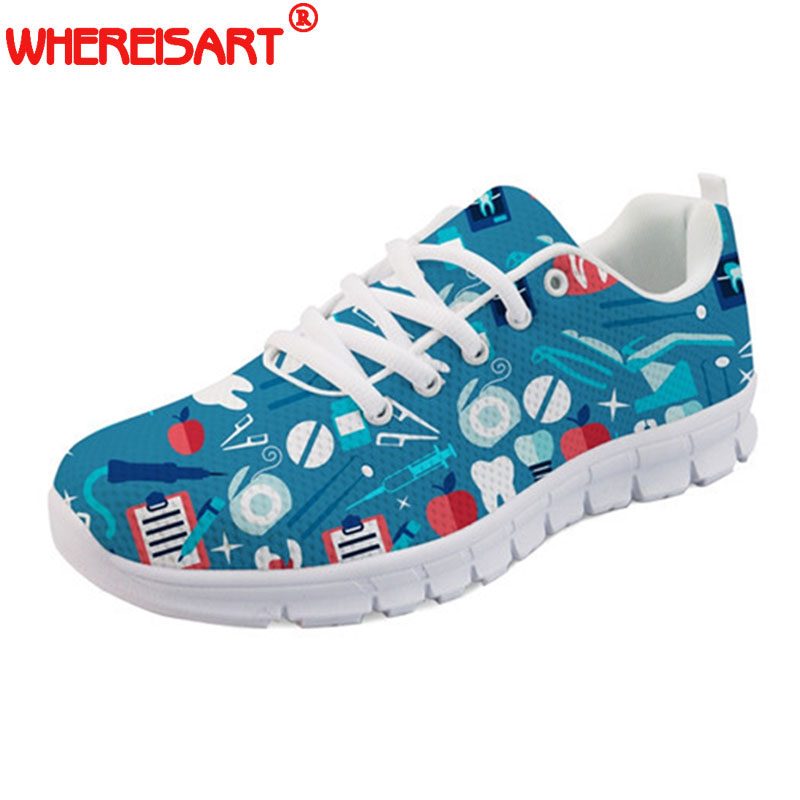 WHEREISART-Zapatos-Mujer-Women-Flats-Shoes-Spring-Autumn-Cute-Dentist-Tooth-Printed-Ladies-Casual-Walking-Shoes