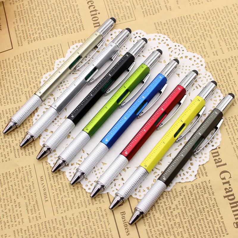 8-цветная технологичная шариковая линейка, спиртовой уровень, многофункциональные инструменты, принадлежности для письма