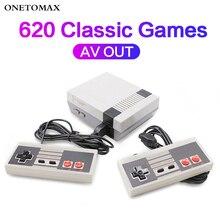 لعبة فيديو وحدة التحكم AV الناتج الأسرة وحدة تحكم تلفاز ألعاب المدمج في 620 الألعاب الكلاسيكية 2 Gamepads الألعاب لاعب