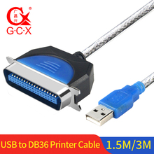High Speed USB to IEEE 1284 DB36 Parallel Port Adapter CN36 Printer Cable 1.5m 3m laptop parallel port card pcmcia parallel port card db25 printer parallel lpt port to cardbus pcmcia pc card adapter converter