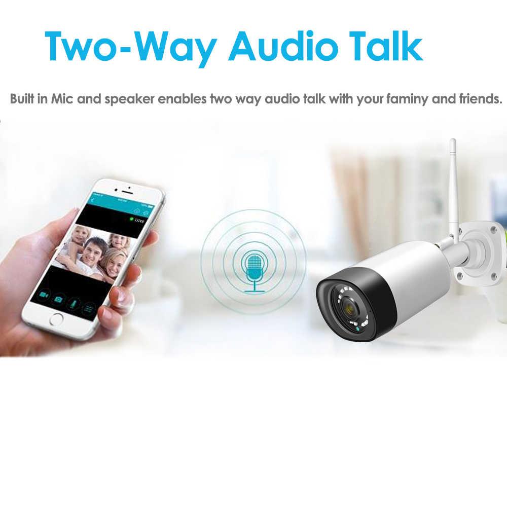 Bezprzewodowa kamera CCTV System 1080P 8ch 2MP kamera IP dwukierunkowe Audio wodoodporne bezpieczeństwo zewnętrzne zestawy nadzoru wideo