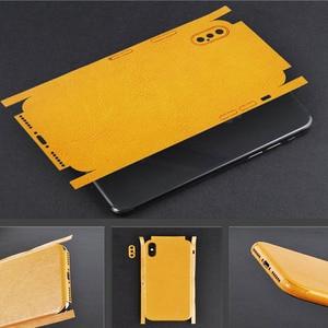 Микрофибра кожаная наклейка для iPhone 6 6S 7 8 Plus задняя пленка наклейка для iPhone 11 Pro Max наклейка клейкая кожа
