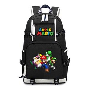 Image 4 - סופר מריו תרמיל נסיעות כתף מחשב נייד שקיות אנימה Backbag בני נוער ילדים בית ספר תלמיד שקיות תיק של