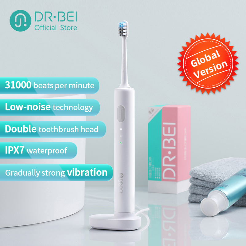 DR.BEI Sonic Electric Toothbrush Rechargeable Waterproof Electrial Ultrasonic Whitening Teeth Clean Toothbrush Xiami Xiomi