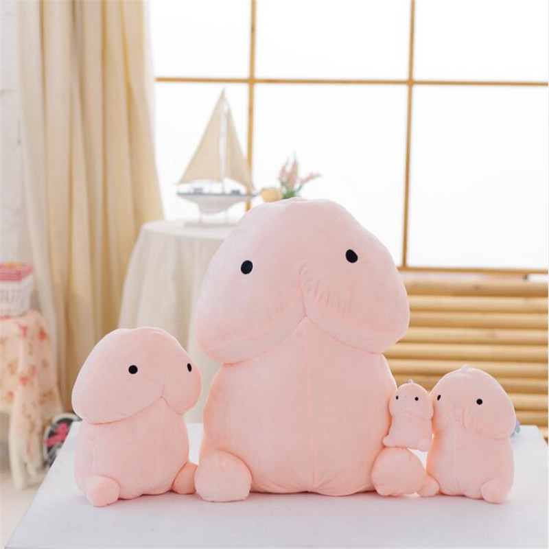 Creative Cute Penis Plush Toys Pillow Sexy Soft Stuffed Funny Cushion Simulation Lovely Dolls Christmas Gift For Girlfriend