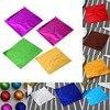 Junejour 100pcs 8x8CM DIY Food Aluminum Foil Paper Chocolate Candy Packaging 10 Colors Party Birthday Wrapper Foil Paper Sticker