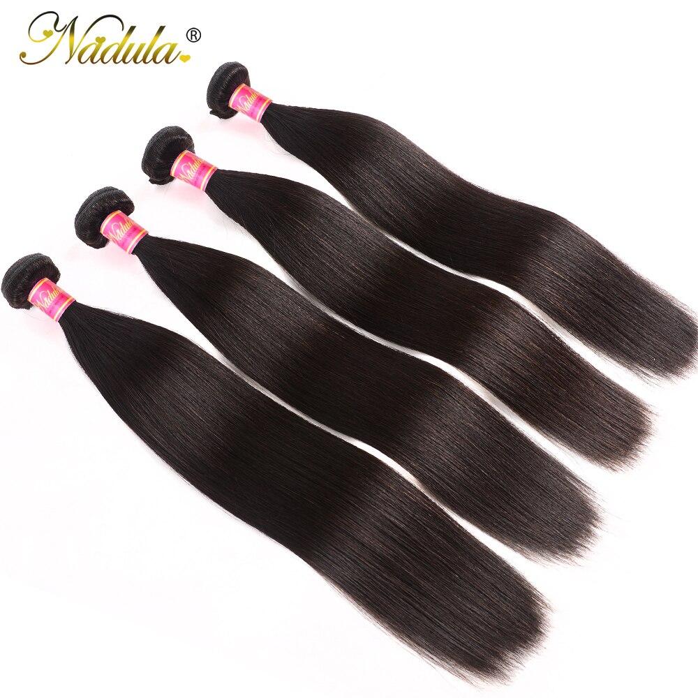 Nadula Hair 4 Bundles Indian Hair Weaves 8-30inch Straight Hair Bundles Human Remy Hair Extention Natural Color Free Shipping