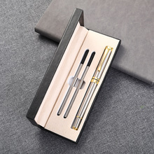 Business Pen Set Printing Logo Conference Gift Pen Neutral Pen Box Metal Pen Set Stationary Supplies Bussiness Supplies