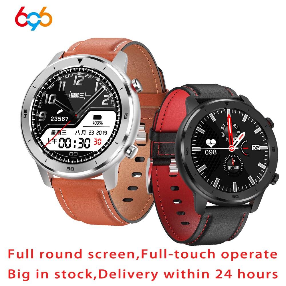 696 DT78 Smart Watch Men Women Smartwatch 1.3 Inch Full Round Full Touch Screen Pedometer Heart Rate Monitor Smart Bracelet Band