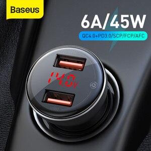 Image 1 - Baseus 45ワット急速充電4.0 usb車の充電器サムスンxiaomi 10 qc 4.0 3.0 pd 3.0高速車電話機の充電車の充電器