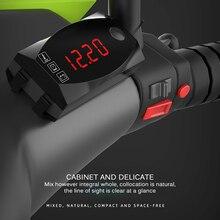12 В 3 в 1 Цифровой светодиодный дисплей, вольтметр, часы, термометр, индикатор, панель, Измеритель для автомобиля, мотоцикла