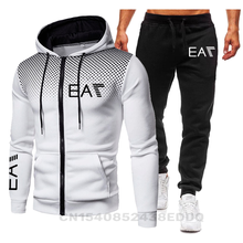 New Brand Men's Fashion Hoodie Sportswear Men Clothes Jogging Casual Tracksuit Male Running Sport Suits SweatshirtPant 2Pcs Sets