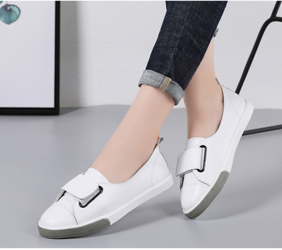 H6ce4fd7d03864c0d80f1202bc5209ab11 - Ngouxm Fashion Women Loafers Flats Woman Lady female Slip On White Genuine Leather Moccasins Casual Shoes zapatos de mujer