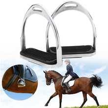 120 мм 1 пара алюминиевые лошадиные стремена для верховой езды предохранительный хомут Бенди Утюги светильник вес