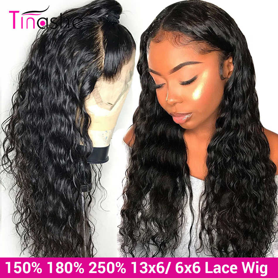 Tinashe Water Wave Wig Lace Front Human Hair Wigs 180 250 Density 13x6 Lace Frontal Wig 6x6 Lace Closure Curly Human Hair Wig