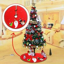 Рождественская елка юбки с повязкой одеяло ковер натальный подарок Новогоднее украшение Рождественские украшения для дома елка юбка