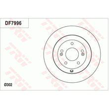 Диск тормозной з. Hyundai Santa Fe, Kia Sorento 2.0-2.4i/CRDi 09
