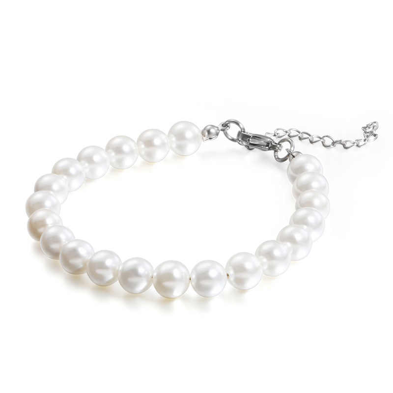 Fashion Beaded Bracelets Stainless Steel Round Beads Bracelets Jewelry For Women