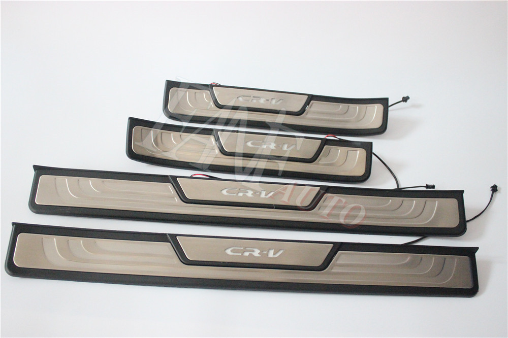 For Honda CRV CR-V 2012-2016 Stainless Steel Outter Door Sill Scuff Plate 4pcs