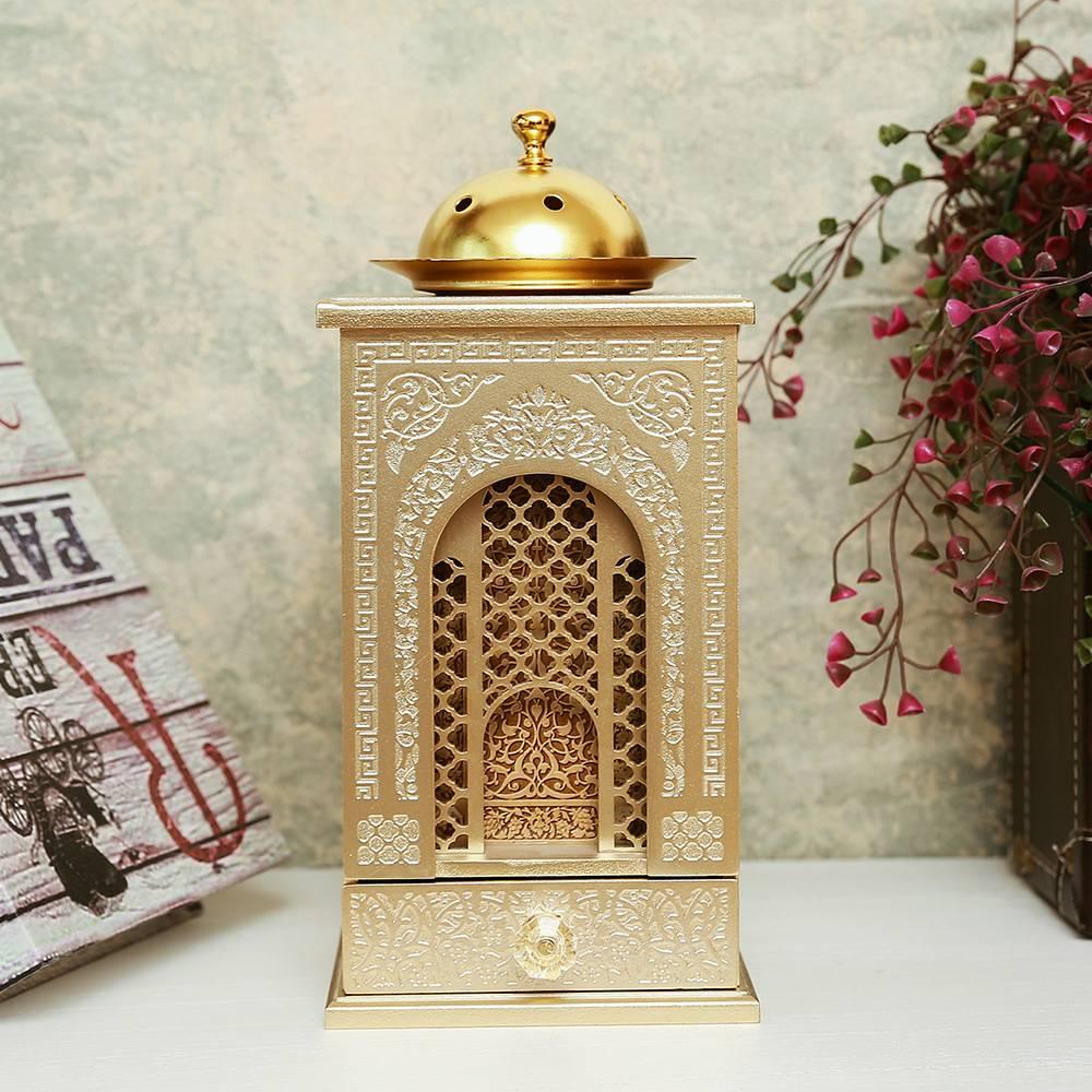 Квадратная курильница с держателем металлическая деревянная Печная горелка Орнамент Ручной Работы Украшение Дома Рамадан Ислам стиль