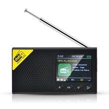 미니 휴대용 블루투스 디지털 라디오 DAB/DAB + 및 FM 수신기 다기능 충전식 경량 홈 라디오