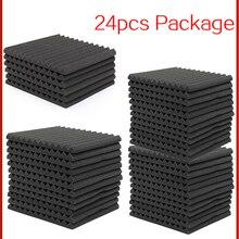 Acoustic Treatment-Panel Protective-Sponge Foam-Sound Absorption Proofing 24PCS 300x300x25mm-Studio