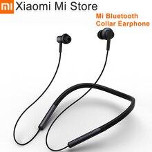 Original xiaomi colar bluetooth fone de ouvido esporte sem fio bluetooth fone com microfone jogar dupla dinâmica fones de ouvido