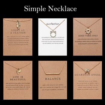 18 de moda de estilo de geometría collar redondo Sol de oreja de gato cadena de oro colgante collar de encanto para las mujeres Bijoux joyería Accesorios