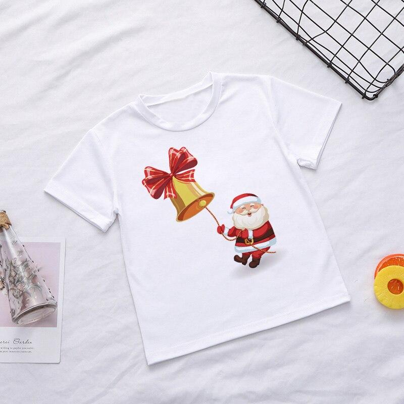Casual Summer Kids Boys T Shirt Santa Claus Tree Elk Kawaii Printing Christmas Shirt Lovely Short Sleeve Fashion Baby Girl Tops 5