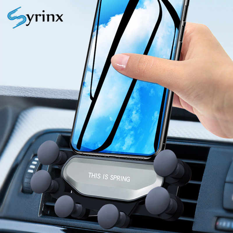 Universal Car Phone Holder Air Vent Mount Clip Holder for Phone In Car Mobile Phone Stand Holder Support for Iphone 7 8 X Xr Xs