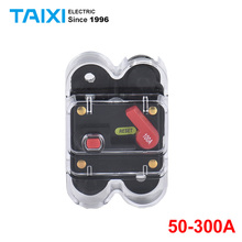 50-300A Automotive Audio Modification with Switch Automatic Fuse Seat Power Supply Protection Automatic Recovery Circuit Breaker car auto in line automatic recovery circuit breaker fuse for 12v protection 150a 200a 250a 300a