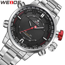 WEIDE Watch Men Relogio Masculino Auto Date Week Men's Watches Top Brand Luxury Watch Analog LED Display Alarmo Wrist Men Watch цена 2017