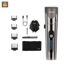 Youpin riwa re-6305 lavável recarregável aparador de cabelo barbeiro profissional com cabeça de cortador de aço carbono