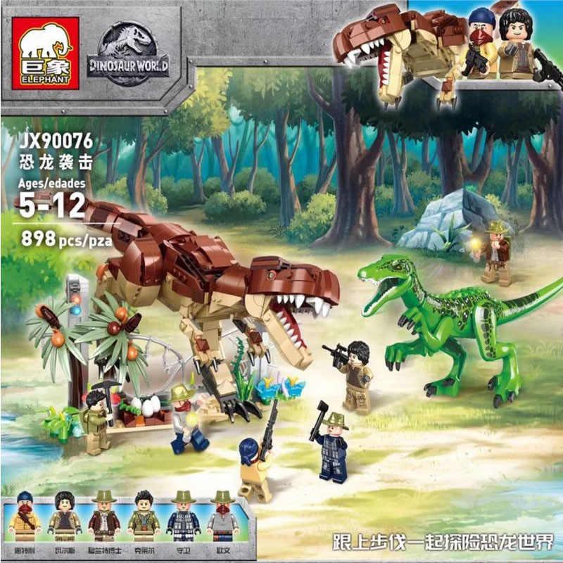 تماثيل الديناصورات من شخصيات Jurassic World 2 تيرانسورس ركس إندومينوس ركس آي ركس ألعاب أطفال