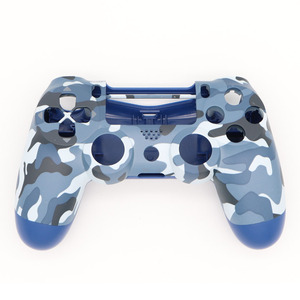 Image 2 - PS4 Pro Blue Camo Front Back Soft Touch Faceplates Housing Shell Case Cover for Sony PS4 Pro JDS040 JDM040 v2 Gen 2th Controller