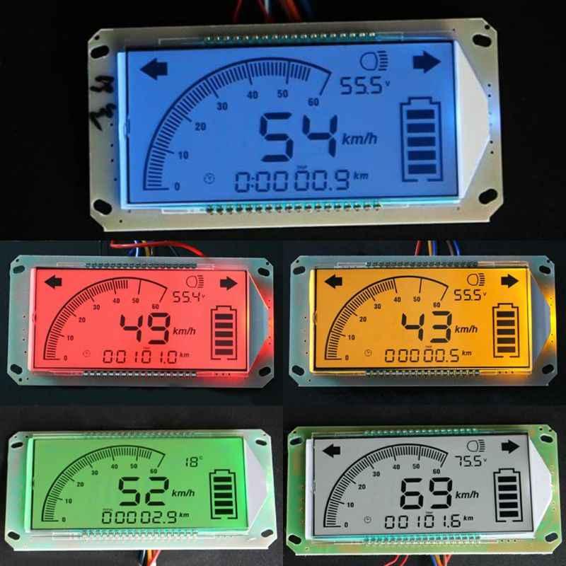 عداد السرعة الفولتميتر عداد المسافات للوحة سكوتر كهربائي 48 فولت 60 فولت 72 فولت F1FC