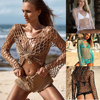 Sexy Mesh Crochet Fishnet Beach Tunic - Bikini Cover Up  1