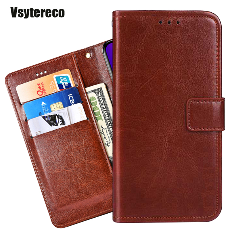 Luxury Wallet Case for ZTE Blade A7 A5 L130 V10 Vita 2019 Cover PU Leather Case Cover Flip For ZTE Blade L8 A3 2019 Phone Bag